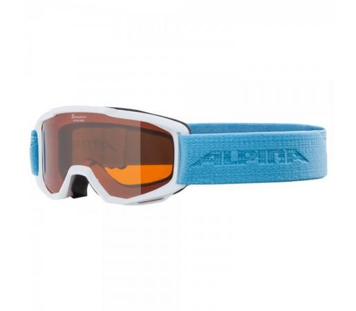 Ochelari Ski Si Snowboard Copii Alpina Piney SH White-Skyblue Alb