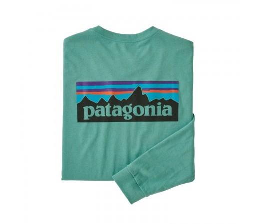 Bluza Drumetie Barbati Patagonia L/S P-6 Logo Responsibili-Tee Light Beryl Green (Verde)