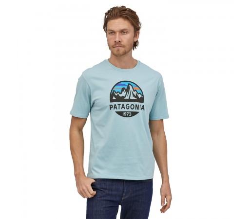 Tricou Drumetie Barbati Patagonia Fitz Roy Scope Organic T-Shirt Big Sky Blue (Albastru)