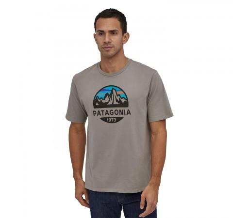 Tricou Drumetie Barbati Patagonia Fitz Roy Scope Organic T-Shirt Feather Grey (Gri)
