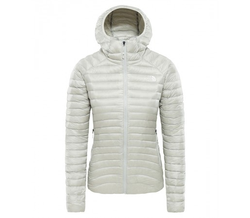 Geaca Femei Hiking The North Face Impendor Down Hoodie Gri-Alb