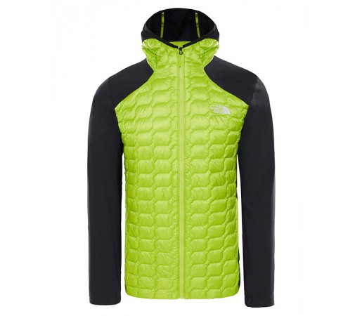Geaca Barbati Hiking The North Face New Thermoball Hybrid Hoodie Verde