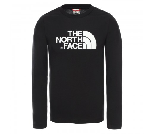Tricou Drumetie Copii The North Face Youth Easy Long Sleeve Tee Tnf Black/Tnf White (Negru)