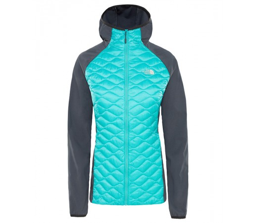 Geaca Femei Hiking The North Face Thermoball Hybrid Hoodie Bleu