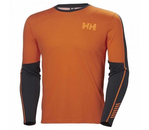 Bluza Termica Barbati Helly Hansen Hh Lifa Active Crew Portocaliu