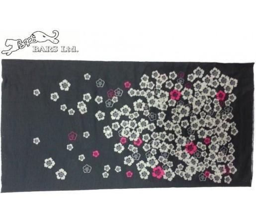 Neck Tube Bars Black Flower