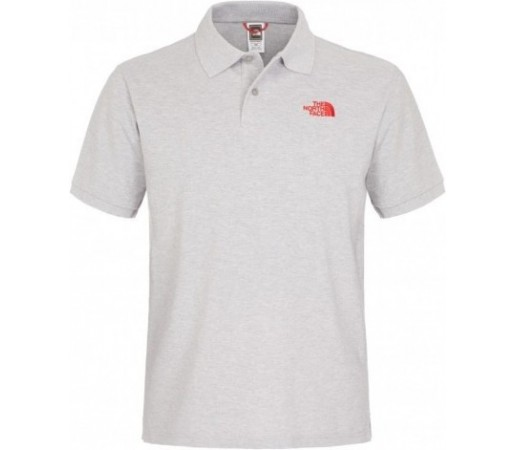 Tricou The North Face Polo Piquet Gri/Rosu