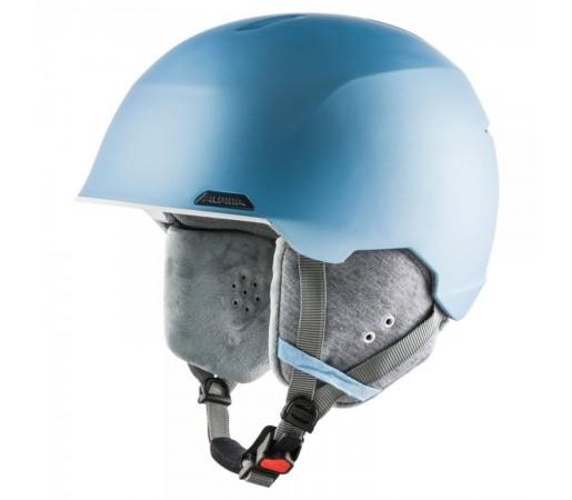 Casca Ski Si Snowboard Unisex Alpina Albona Skyblue/White Matt Albastru