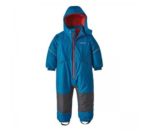 Combinezon Ski Copii 0-5 ani Patagonia Baby Snow Pile One-Piece Balkan Blue (Albastru)