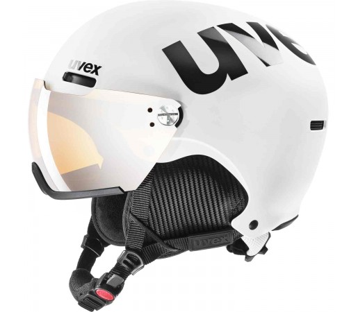 Casca Ski si Snowboard Unisex Uvex Hlmt 500 Visor White Black Mat  (Alb)