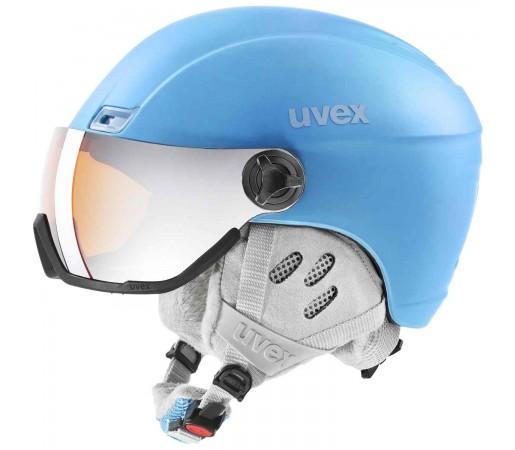 Casca Ski si Snowboard Unisex Uvex Hlmt 400 Visor Style OTG Cloudy Blue M (Albastru)