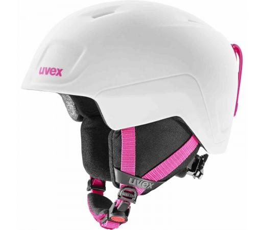 Casca Ski si Snowboard Copii Uvex Heyya Pro White-Pink Mat (Alb)