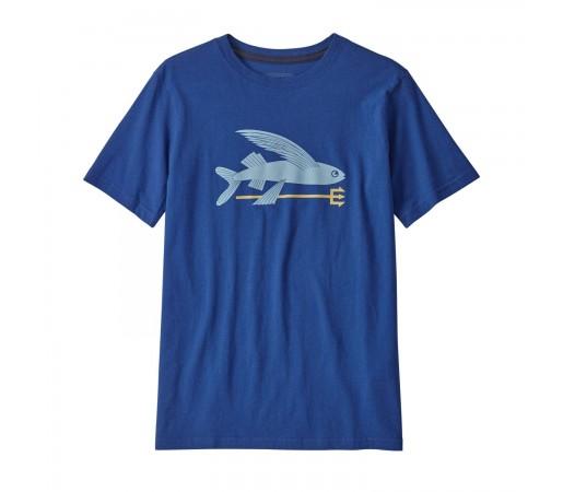 Tricou Drumetie Copii Patagonia Boys' Graphic Organic T-Shirt Superior Blue (Bleumarin)