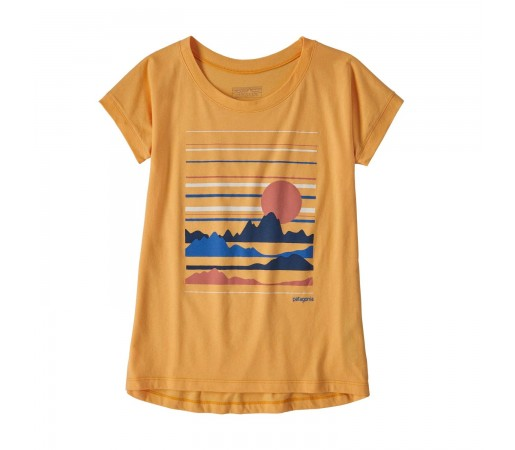 Tricou Drumetie Copii Patagonia Girls' Graphic Organic T-Shirt Saffron (Galben)