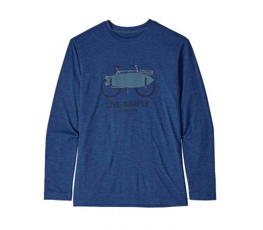 Bluza Drumetie Copii Patagonia Boys' L/S Capilene Cool Daily T-Shirt Superior Blue X-Dye (Bleumarin)
