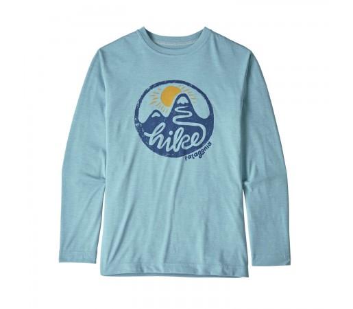 Bluza Drumetie Copii Patagonia Boys' L/S Capilene Cool Daily T-Shirt Big Sky Blue X-Dye (Albastru)