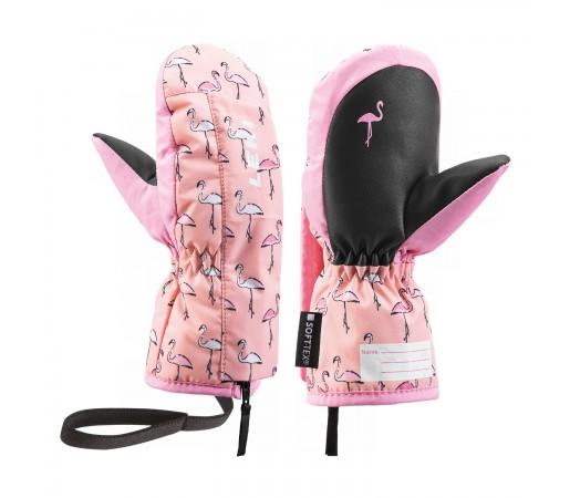 Manusi Ski Copii Leki Flamingo Zap Mitten Roz