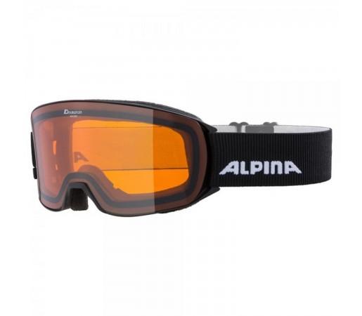 Ochelari Ski Si Snowboard Unisex Alpina Nakiska DH Black Negru