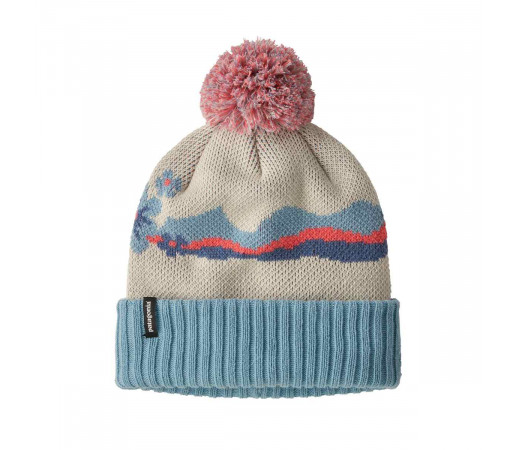 Caciula Copii Patagonia Powder Town Beanie Arctic Floral Knit / Oyster White (Multicolor)
