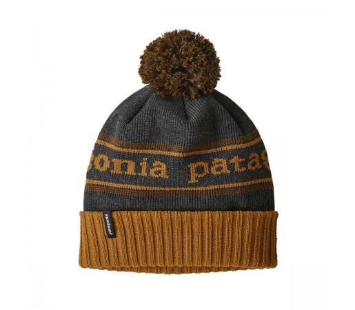 Caciula Copii Patagonia Powder Town Beanie Park Stripe / Hammonds Gold w/Owl Brown (Multicolor)