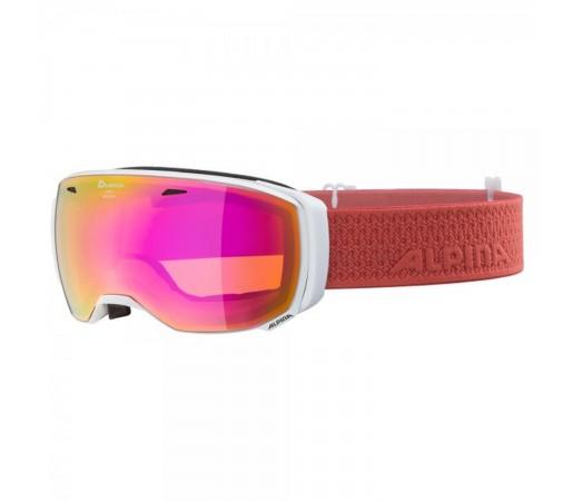 Ochelari Ski Si Snowboard Unisex Alpina Estetica HM White-Coral/Pink Saphire Alb