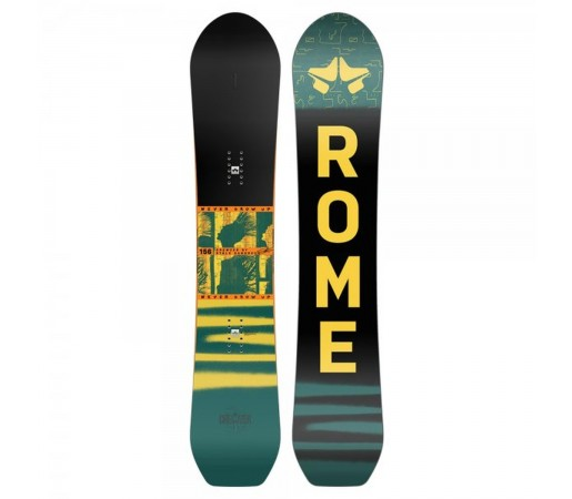 Placa Snowboard Unisex Rome Stale Crewzer 156 Multicolor