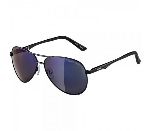 Ochelari De Soare Unisex Alpina A 107 Black Matt/Blue Mirror Negru
