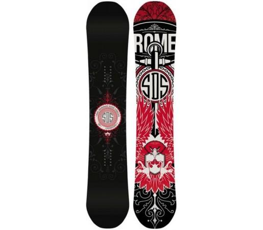 Placa snowboard Rome Crossrocket Negru/ Rosu 2016