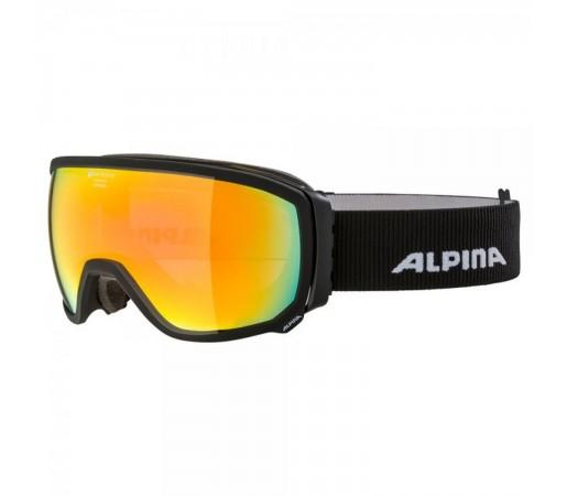 Ochelari Ski Si Snowboard Unisex Alpina Scarabeo QHM Black Matt/Red Negru