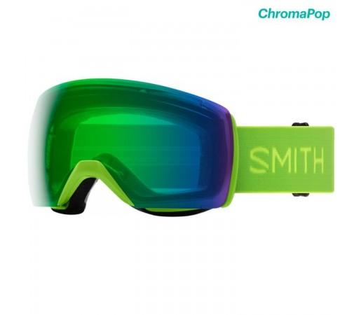 Ochelari Ski Si Snowboard Unisex Smith Skyline XL Limelight Chromapop Everyday Green Mirror Lime
