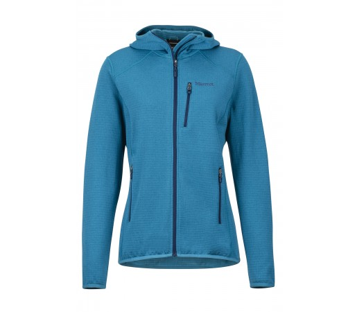 Bluza Mid-Layer Femei Hiking Marmot Preon Albastru