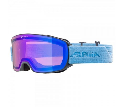 Ochelari Ski Si Snowboard Unisex Alpina Nakiska QHM Grey-Skyblue/Blue Gri