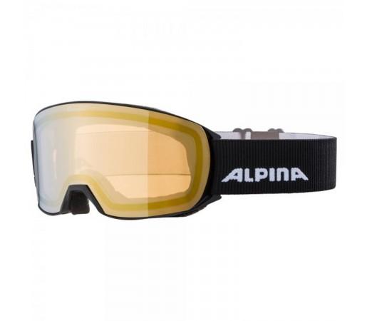 Ochelari Ski Si Snowboard Unisex Alpina Nakiska HM Gold Negru