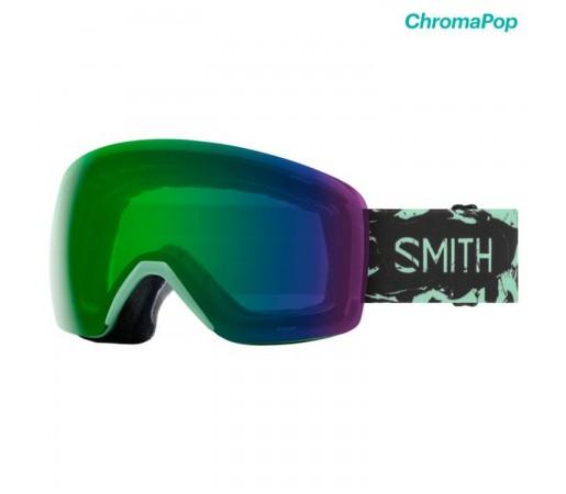Ochelari Ski Si Snowboard Unisex Smith Skyline Bermuda Marble Chromapop Everyday Green Mirror Multicolor