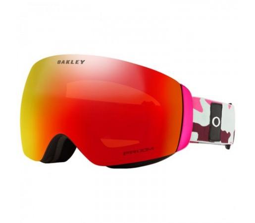 Ochelari Ski Si Snowboard Unisex Oakley Flight Deck XM Grenache Camo Prizm Torch Iridium Roz