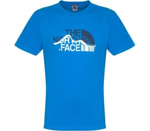 Tricou The North Face Mountain Line S/S W Drummer Blue