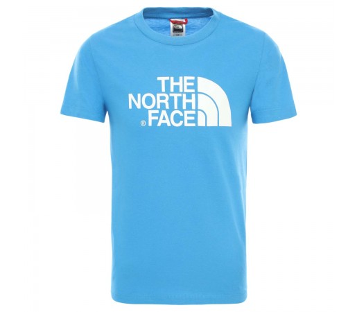Tricou Drumetie Copii The North Face Youth Short Sleeve Easy Tee Clear Lake Blue (Albastru)