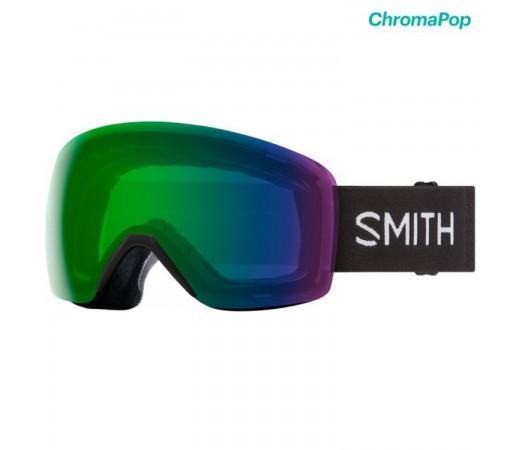 Ochelari Ski Si Snowboard Unisex Smith Skyline Black Chromapop Everyday Green Mirror Negru