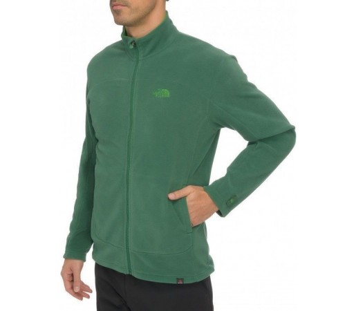 Bluza The North Face M 100 Glacier FZ Verde