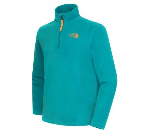 Polar The North Face Y Glacier 1/4 Zip Scallion Green