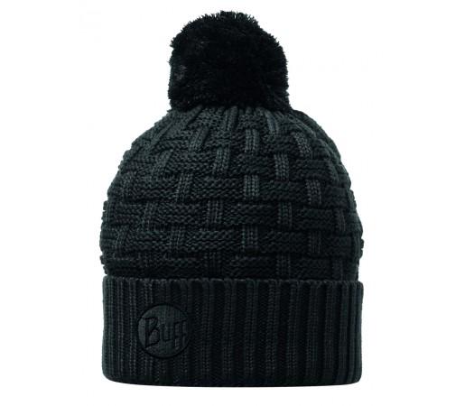 Caciula Buff Knitted & Polar Airon Neagra