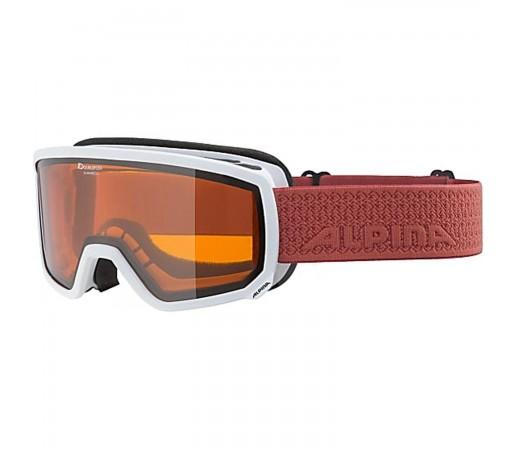 Ochelari Ski Si Snowboard Unisex Alpina Scarabeo S DH White-Coral Alb