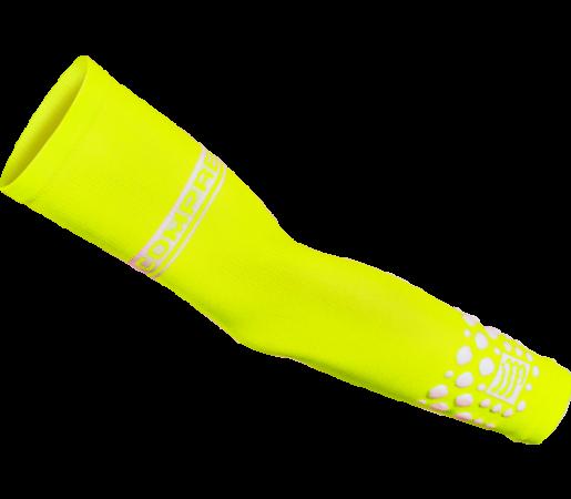 Maneci compresie Compressport Fluo Arm Force Yellow
