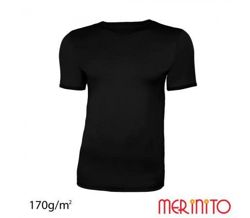 Tricou First Layer Merinito 100% lana merinos M Negru