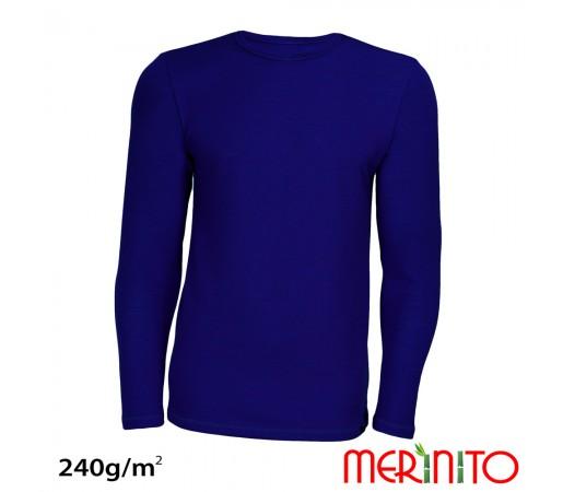 Tricou Merinito Merinos + Bambus 240g M Bleumarin