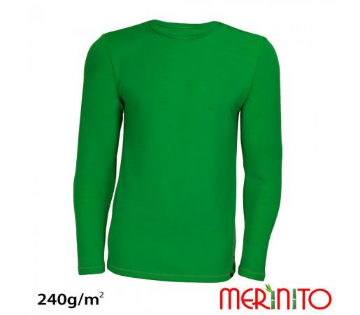 Tricou Merinito Merinos + Bambus 240g M Verde