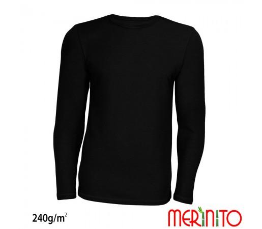 Bluza First Layer Barbati Merinito 240g/mp Neagra