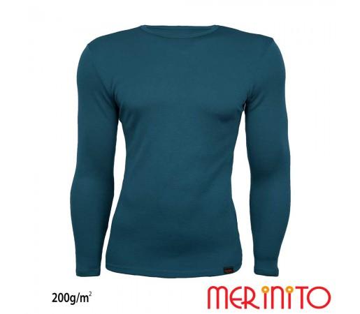 Bluza First Layer Barbati Merinito 200g/mp Turcoaz