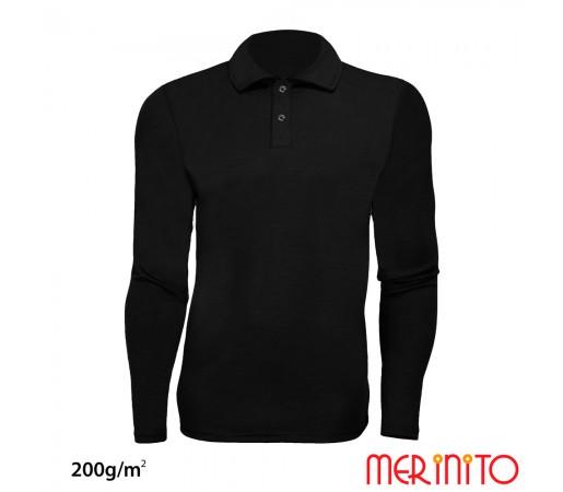 Bluza Merinito Polo Jersey 200G M Negru