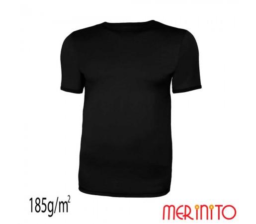 Tricou Merinito 100% Merinos 185g M Negru